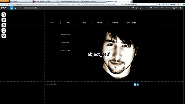 Wix profile in progress