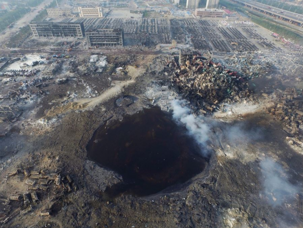 Aftermath of Tianjin Explosion
