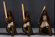 Chewy in Jedi robes