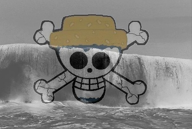 Jolly Roger of the ,,Black Wave''-Pirates