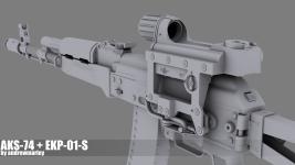 Weapon Renders (Hi-Poly)