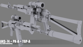 Weapon Renders (Hi-Poly)