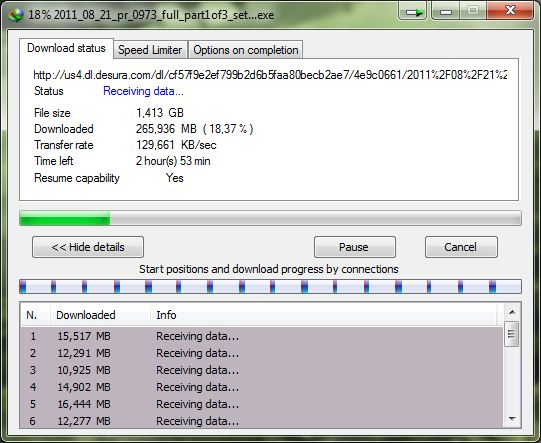 Do you want to see... My internet download speed?