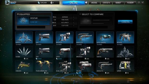 Warframe arsenal