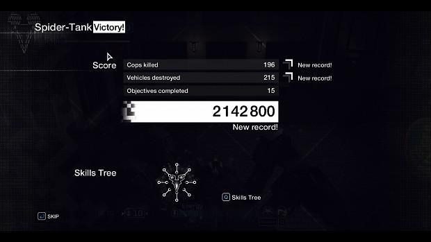 Spider tank high score