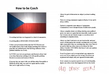 How to be Czech
