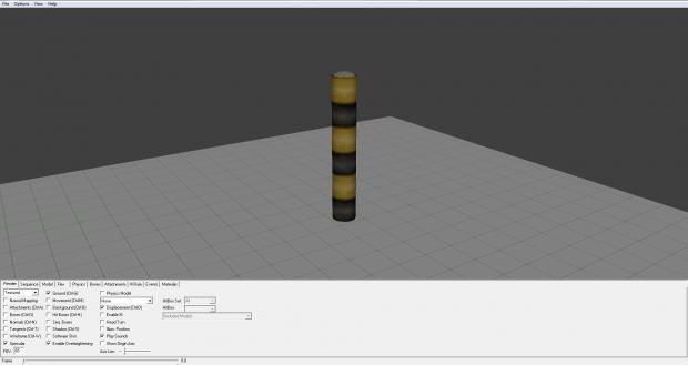 Downscaled brush to model.