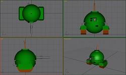 Bomb Tank model