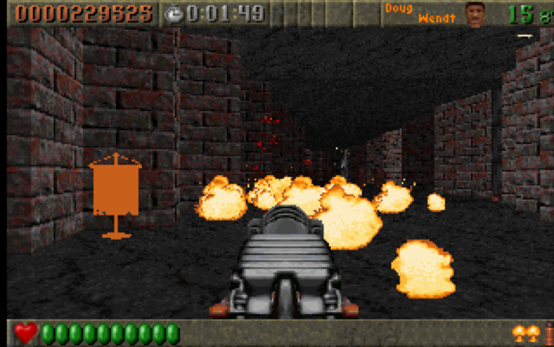 Rise of the Triad [1994] - Firebomb in action