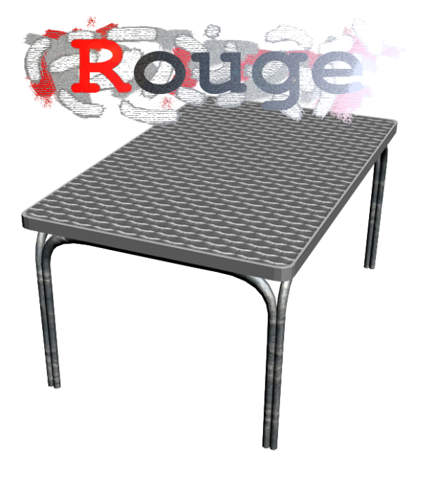 Metal Table - Rouge