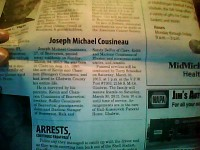 Joe's Obituary