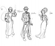 Hardboiled Class Profile Sketches