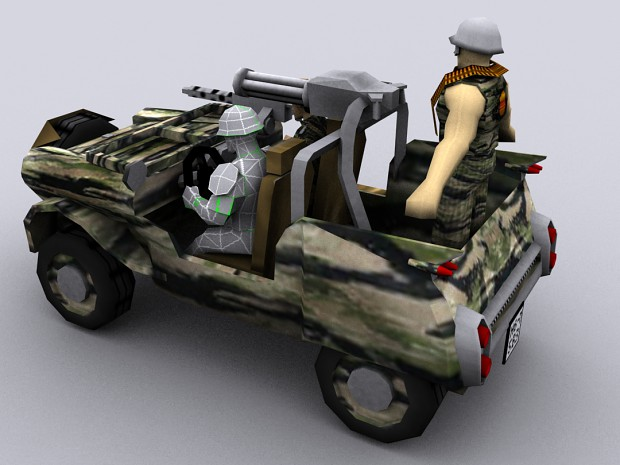 ARVN Scout Car WIP 2 - Back View
