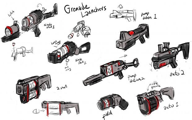 Grenade Launcher Concept Art