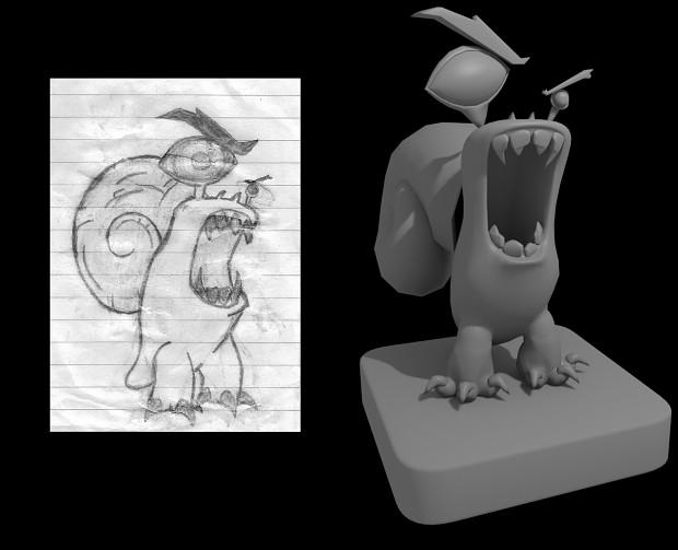 Snail Character Model
