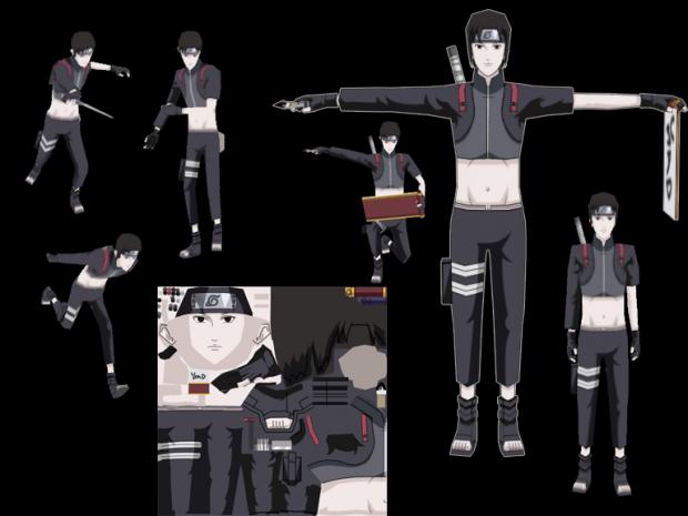 Sai Naruto Model