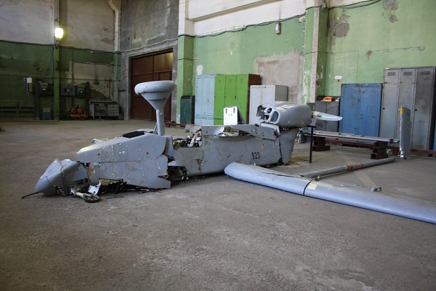 Miner-built copy of the IAI Searcher (Forpost) UAV