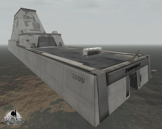 DDG 1000 Destroyer - Static Model in Game