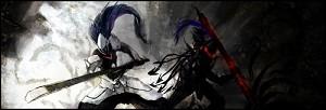 Hakumen (Blazblue) and Lancelot (Fate/Zero)