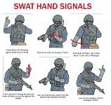 SWAT hand signals (LOL)