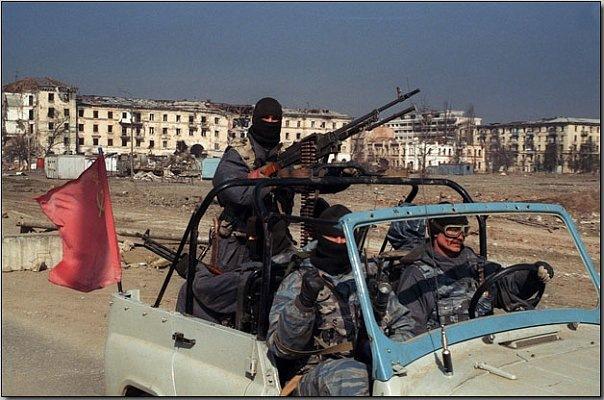 Russians in Chechnya.