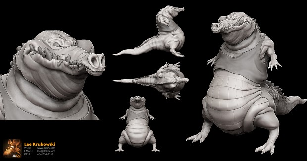 Alligator Character Concept