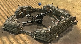 German Emplacements - 15cm sFH 18 Nest