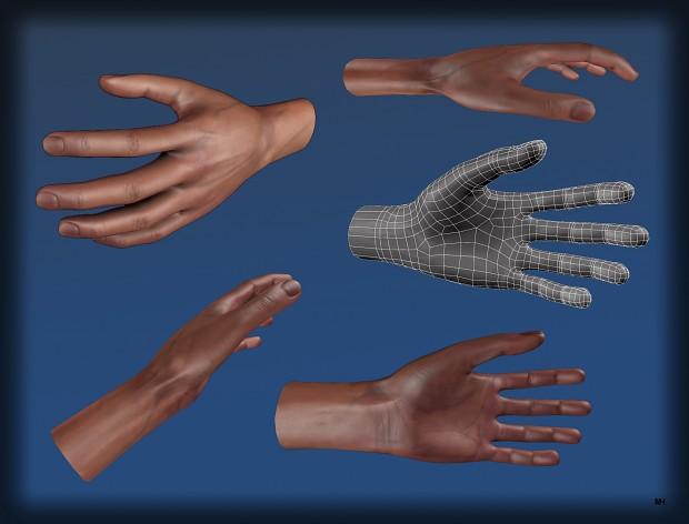 Hand textured.