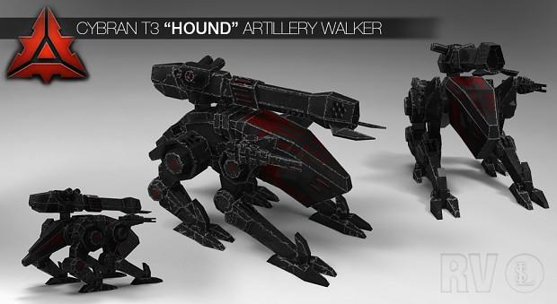 "Cybran T3 ""Hound"" Artillery walker (HD)"