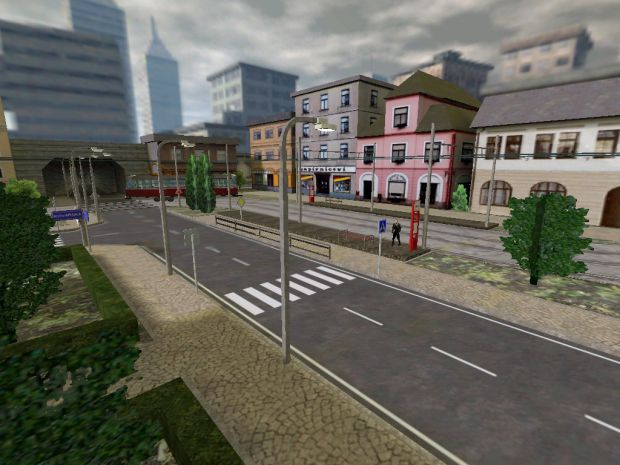 Tram station square