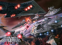 Galactic civil war space battle