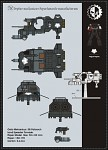 Warhammer 40K – Land Speeder Tornado Paper Model.