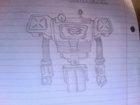Fallout New Vegas Securitron Sketch