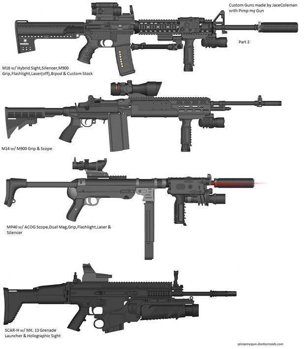 Guns made with Pimp my gun Part 2 image - LordJace - Mod DB