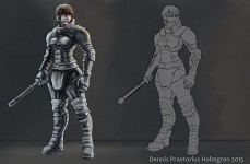 Armored police girl