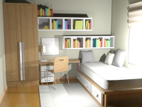 3D Studio Max Bedroom Render