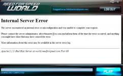NFSWorld  server  errors & game+launcher update
