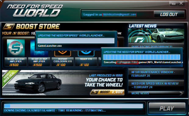 NFSWorld  server  errors & game+launcher update