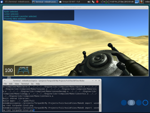 Torque3D on Linux