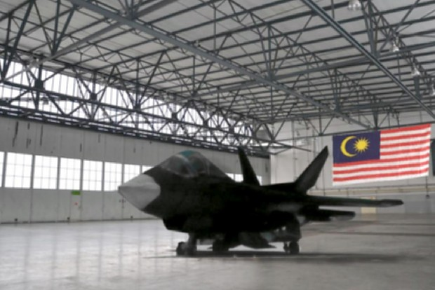 Malaysian Prototype Fighter Jet GF-1 in Hangar