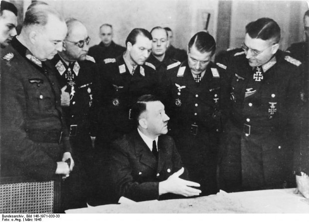 Hitler at conference of Army Group Vistula 1945