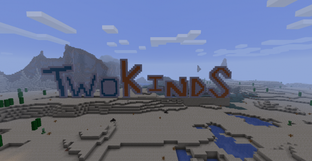 twokinds logo made in minecraft