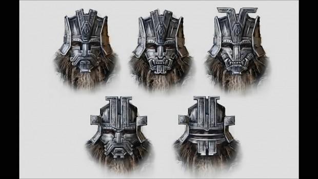 Belegost Dwarf War Masks