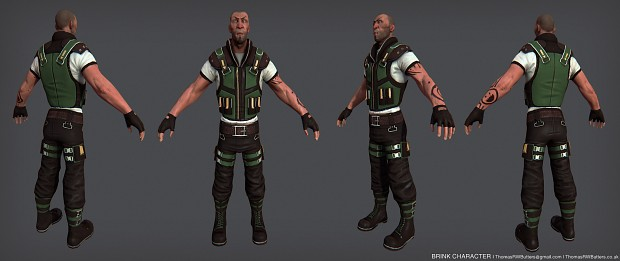 BRINK Character Low Poly