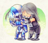 ''Chibi Smoke and Cyber Sub-Zero''