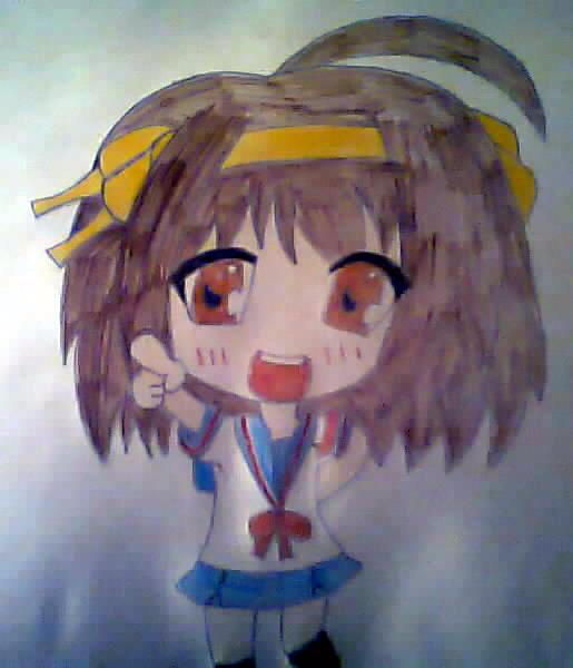 Haruhi Suzumiya chibi {Finished}