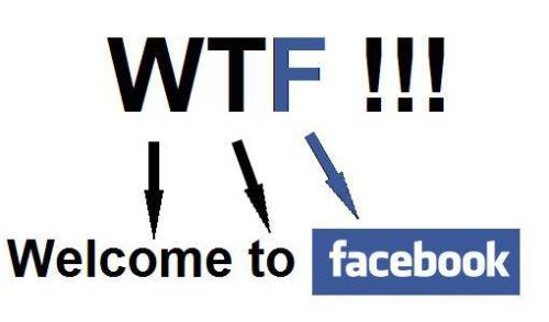 WTF means Welcome To Facebook xD :D