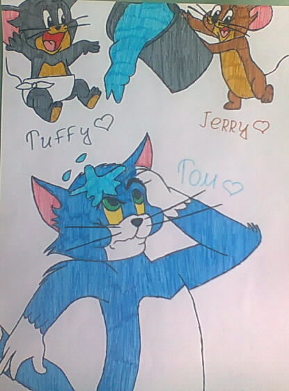 Tom, Jerry and Tuffy :3