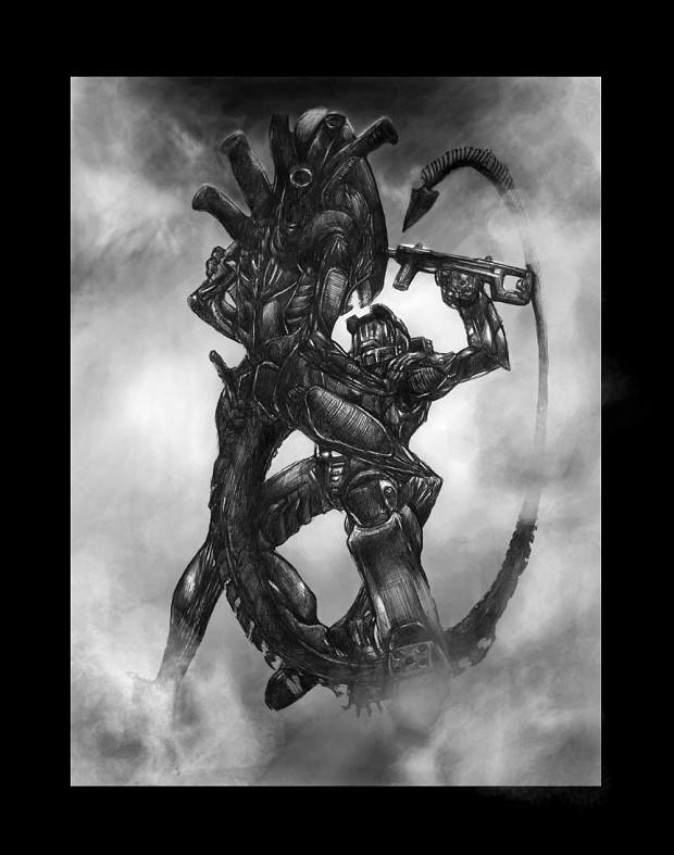 aliens vs spartan image - TheBlackMarkofNod - Mod DB