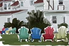 Chairs on the lawn